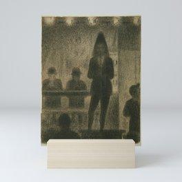 "Trombonist (Study for ""Circus Side Show"") Mini Art Print"
