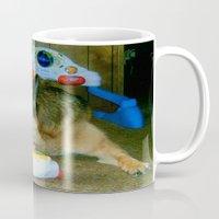 german shepherd Mugs featuring German Shepherd Spit Shine by GermanShepherdCrazy