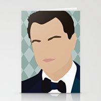leonardo dicaprio Stationery Cards featuring Leonardo Dicaprio by Emily Brady