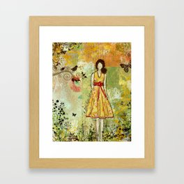 A Little Birdie Told Me Inspirational Art by Janelle Nichol Framed Art Print