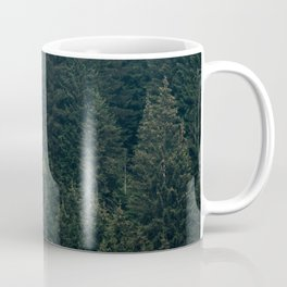 Mystic Pines - A Forest in the Fog Coffee Mug