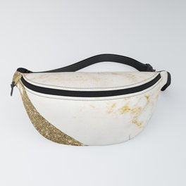 Gold marble collage Fanny Pack