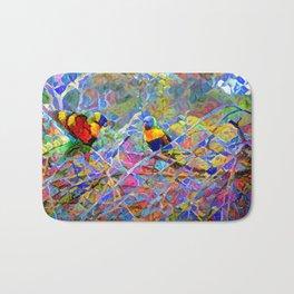 Rainbow Lorikeet Mosaic Bath Mat