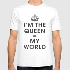 I'm the Queen of my World White SMALL Mens Fitted Tee
