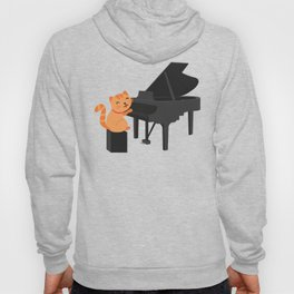 Cute Cat Playing Piano - Funny Gift Hoody