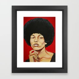 "Angela Davis ""Revolutionary"" Framed Art Print"