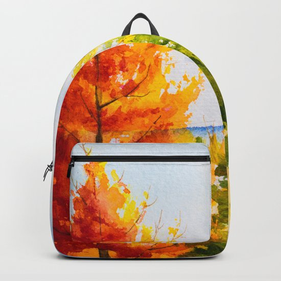 Autumn scenery #21 Backpack