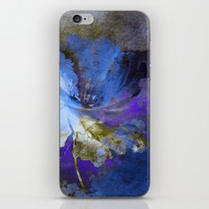 blue abstract flower and old wall iPhone & iPod Skin
