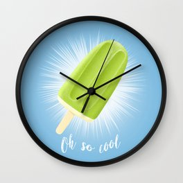 Oh So Cool - Lime Wall Clock