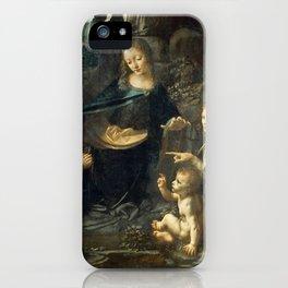 """Leonardo da Vinci """"The Virgin of the Rocks"""" (Louvre) iPhone Case"""
