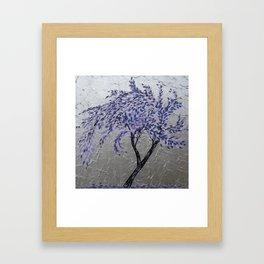 Purple Windswept Tree Framed Art Print