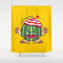 Watermelon B Shower Curtain