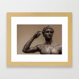 Statue of a Victorious Youth Framed Art Print