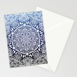 Blue Gradient Mandala Stationery Cards