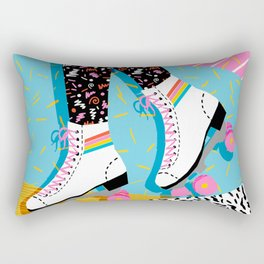 Steeze - 80's memphis rollerskating rad neon trendy art gifts throwback retro vibes Rectangular Pillow