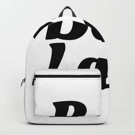 Boss Lady in Cursive Black Backpack