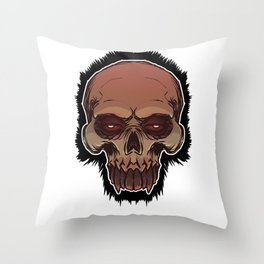 Skull cartoon Throw Pillow