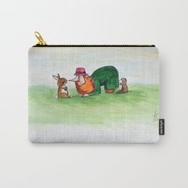 Eye to eye Leprechaun and Rabbit Carry-All Pouch