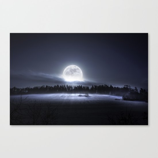 When the moon wakes up Canvas Print