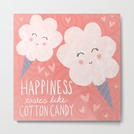 Happiness Tastes Like Cotton Candy Metal Print