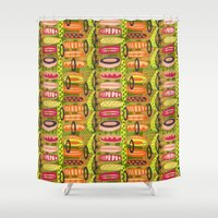 tribal Shower Curtains featuring Tribal  by Slumbermonkey Designs