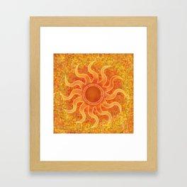 Energy Sun Framed Art Print