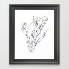 Calla Lily Point Framed Art Print