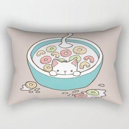 Milky Cat Cereal Bath Rectangular Pillow