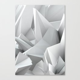 White Noiz Canvas Print