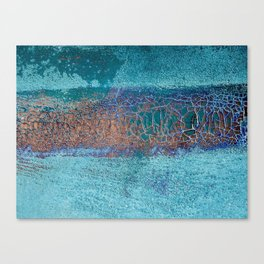Rust and Cracks Turquoise Canvas Print