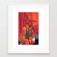 vertigo Framed Art Prints featuring Vertigo by Ale Giorgini