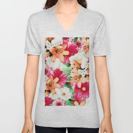Flowers Potpourri two Unisex V-Neck