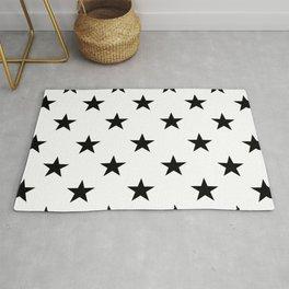 Stars (Black/White) Rug