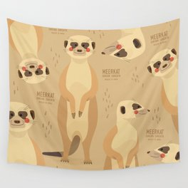 Meerkat, African Wildlife Wall Tapestry