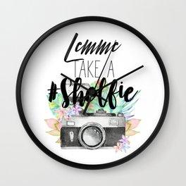 Lemme Take a #Shelfie Wall Clock