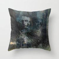 dark souls Throw Pillows featuring Dark Souls by Lil'h