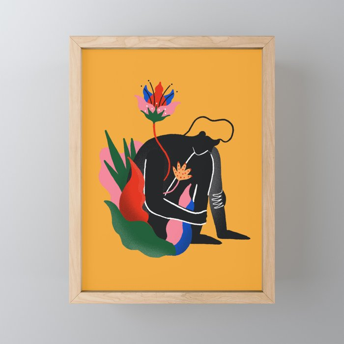 Lonely blossom Framed Mini Art Print