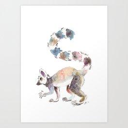 Splotchy Lemur Art Print
