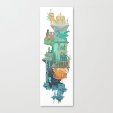 Dark Souls World Map Canvas Print