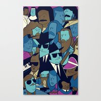 blues brothers Canvas Prints featuring The Blues Brothers by Ale Giorgini