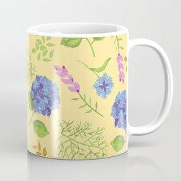 Hydrangea on yellow Coffee Mug