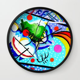 Abstract Lines and Circles Wall Clock