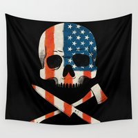 american Wall Tapestries featuring American P$yscho by Wharton