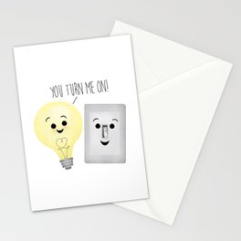 You Turn Me On! Stationery Cards