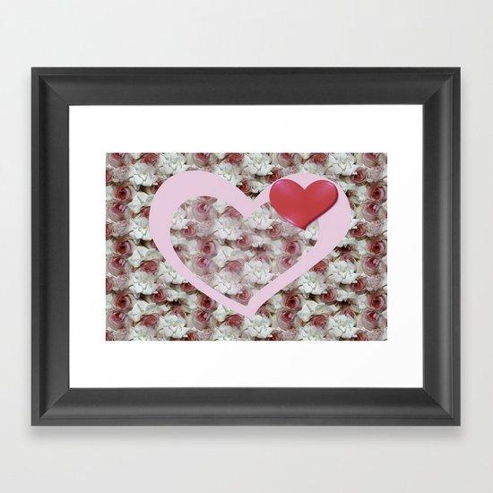 Bed of Roses Love Framed Art Print
