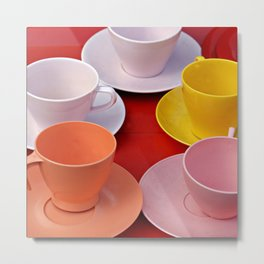 Cups Metal Print