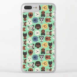 Dog dogs pet pets cute pattern Clear iPhone Case