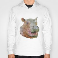 hippo Hoodies featuring abstract hippo by Ancello