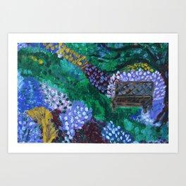 In the Wisdom Garden Art Print