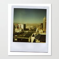las vegas Canvas Prints featuring Las Vegas by very giorgious